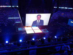 Business leadership session at the Microsoft Worldwide Partner Conference