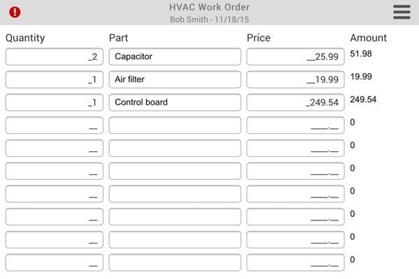 Mi-HVAC Apps Work Order Form