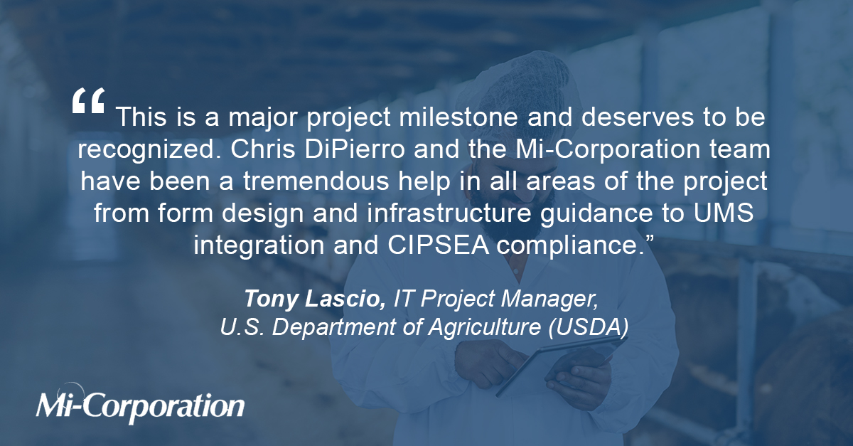 USDA grants APHIS Authority to Operate (ATO) the Mobile Impact Platform